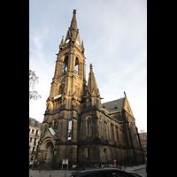 Dresden - Neustadt, Martin-Luther-Kirche, Außenansicht von Südwesten (Martin-Luther-Platz)