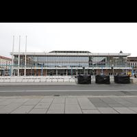 Dresden, Kulturpalast / Philharmonie (Konzertsaal), Außenansicht von Süden (Altmarkt)