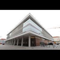 Dresden, Kulturpalast / Philharmonie (Konzertsaal), Außenansicht von Nordosten mit Künstlereingang