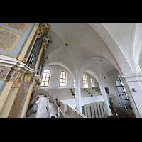 Freiberg (Sachsen), St. Petri (-Nikolai), Blick von der seitlichen Orgelempore in die Kirche