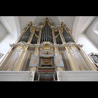 Freiberg (Sachsen), St. Petri (-Nikolai), Orgel mit Spieltisch