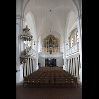 Freiberg (Sachsen), St. Petri (-Nikolai), Innenraum in Richtung Orgel