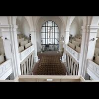 Freiberg (Sachsen), St. Petri (-Nikolai), Blick von der Orgelempore in die Kirche