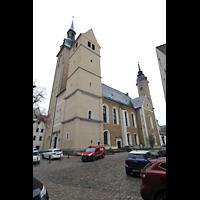 Freiberg (Sachsen), St. Petri (-Nikolai), Ansicht von Südwesten (Petriplatz)