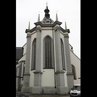 Freiberg, Dom St. Marien (Lettnerorgel), Chorraum von Ostel