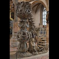 Freiberg, Dom St. Marien (Lettnerorgel), Freistehende Tulpenkanzel von 1505