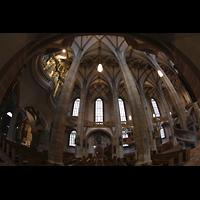 Freiberg (Sachsen), Dom St. Marien (Hauptorgel), Blick vom südlichen Seitenschiff in den Raum mit Orgelempore (links)