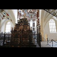 Freiberg (Sachsen), Dom St. Marien (Hauptorgel), Chorraum und kurfürstliches Grabgelege - Moritzmonument von 1563