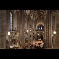 Freiberg, Dom St. Marien (Lettnerorgel), Blick von der Hauptorgelempore in den Dom
