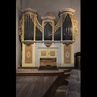 Freiberg, Dom St. Marien (Lettnerorgel), Kleine Silbermann-Orgel auf dem Lettner