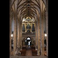Freiberg, Dom St. Marien (Lettnerorgel), Blick vom Lettner in den Dom