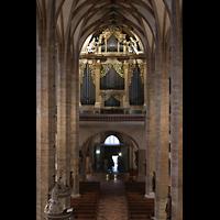 Freiberg, Dom St. Marien (Lettnerorgel), Blick vom Lettner zur großen Orgel