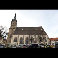 Bautzen, Dom St. Petri (Eule-Orgel im evangelischen Teil), Außenansicht vom Fleischmarkt aus