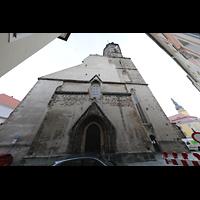 Bautzen, Dom St. Petri (Eule-Orgel im evangelischen Teil), Westfassade (evangelischer Teil des Doms)