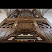 Bautzen, Dom St. Petri (Eule-Orgel im evangelischen Teil), Eule-Orgel mit Spieltisch