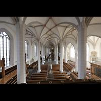 Bautzen, Dom St. Petri (Eule-Orgel im evangelischen Teil), Blick von der Empore der Eule-Orgel in den Dom