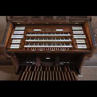 Bautzen, Dom St. Petri (Eule-Orgel im evangelischen Teil), Spieltisch der Eule-Orgel