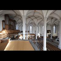 Bautzen, Dom St. Petri (Eule-Orgel im evangelischen Teil), Blick von der Seitenempore zur Orgelempore mit Eule-Orgel