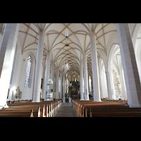 Bautzen, Dom St. Petri (Eule-Orgel im evangelischen Teil), Innenraum in Richtung Chor / katholischem Teil