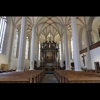 Bautzen, Dom St. Petri (Eule-Orgel im evangelischen Teil), Chor und katholischer Teil des Doms