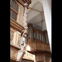 Bautzen, Dom St. Petri (Eule-Orgel im evangelischen Teil), Fürstenloge und Eule-Orgel