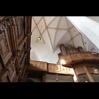 Bautzen, Dom St. Petri (Eule-Orgel im evangelischen Teil), Fürstenloge und Eule-Orgel perspektivisch