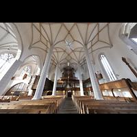 Bautzen, Dom St. Petri (Eule-Orgel im evangelischen Teil), Innenraum in Richtung Eule-Orgel