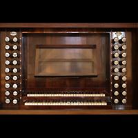 Bautzen, Dom St. Petri (Eule-Orgel im evangelischen Teil), Spieltisch der Kohl-Orgel
