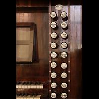 Bautzen, Dom St. Petri (Eule-Orgel im evangelischen Teil), Rechte Registerstaffel der Kohl-Orgel