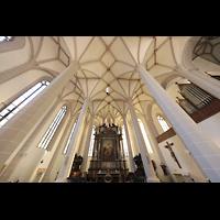 Bautzen, Dom St. Petri (Eule-Orgel im evangelischen Teil), Chorraum (katholischer Teil) mit Kohl-Orgel
