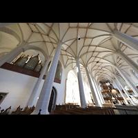 Bautzen, Dom St. Petri (Eule-Orgel im evangelischen Teil), Blick vom Chorraum (katholischer Teil) zur Eule-Orgel (evangelischer Teil)