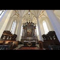 Bautzen, Dom St. Petri (Eule-Orgel im evangelischen Teil), Hochaltar im Chorraum (katholischer Teil)