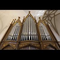Bautzen, Dom St. Petri (Eule-Orgel im evangelischen Teil), Kohl-Orgel perspektivisch