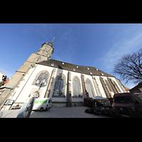 Bautzen, Dom St. Petri (Eule-Orgel im evangelischen Teil), Außenansicht von Süden