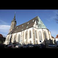 Bautzen, Dom St. Petri (Eule-Orgel im evangelischen Teil), Außenanicht von Südosten mit Chor