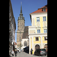 Bautzen, Dom St. Petri (Eule-Orgel im evangelischen Teil), Turm von Süden