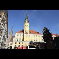 Bautzen, Dom St. Petri (Eule-Orgel im evangelischen Teil), Rathaus mit Domturm