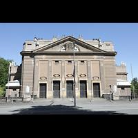 Görlitz, Stadthalle, Fassade zur Brücke der Freundschaft hin