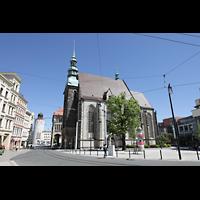 Görlitz, Frauenkirche, Blick vom Postplatz auf die Frauenkirche - hinten links: Der Dicke Turm