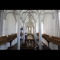 Görlitz, Frauenkirche, Blick von der Orgelempore in die Kirche