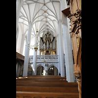 Görlitz, Frauenkirche, Innenraum in Richtung Orgel