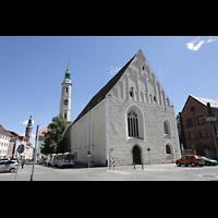 Görlitz, Dreifaltigkeitskirche, Obermarkt mit Dreifaltigkeitskirche von Westen