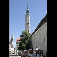 Görlitz, Dreifaltigkeitskirche, Nordseite mit Turm