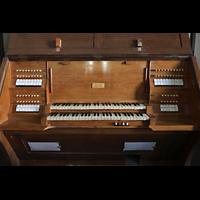 Görlitz, Dreifaltigkeitskirche, Spieltisch der Orgel