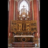 Brandenburg, St. Katharinen (Hauptorgelanlage), Hochaltar von 1474 von G. Weger