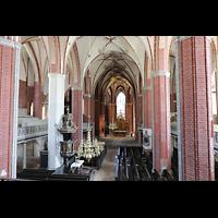 Brandenburg, St. Katharinen (Hauptorgelanlage), Blick von der Hauptorgelempore in die Kirche