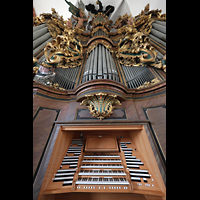 Brandenburg, St. Katharinen (Hauptorgelanlage), Hauptorgel mit fest eingebautem Spieltisch