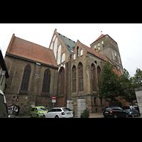 Rostock, St. Nikolai, Ansicht von Südosten mit Chor