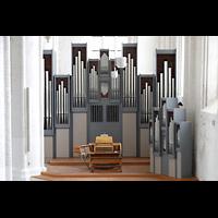 Rostock, St. Nikolai, Orgel von der Westempore aus gesehen