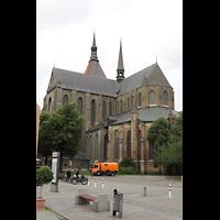 Rostock, St. Marien (Turmorgel), Außenansicht von Südosten